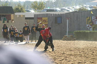 Aged Photograph - Maryland Renaissance Festival - Jousting And Sword Fighting - 121275 by DC Photographer