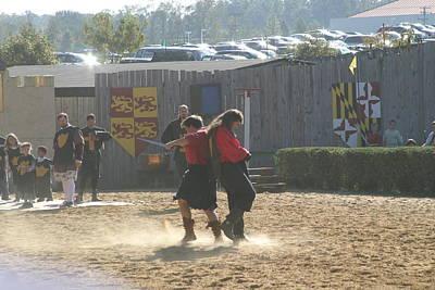 Maryland Renaissance Festival - Jousting And Sword Fighting - 121279 Art Print