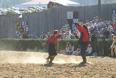Maryland Renaissance Festival - Jousting And Sword Fighting - 121282 Art Print