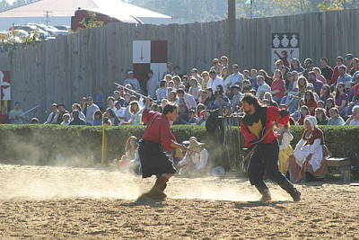 Maryland Renaissance Festival - Jousting And Sword Fighting - 121283 Art Print