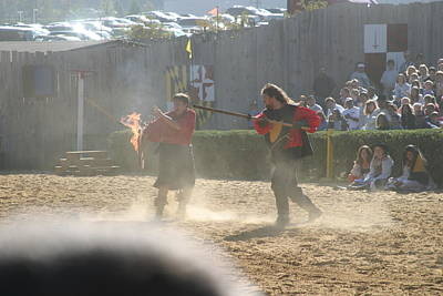 Maryland Renaissance Festival - Jousting And Sword Fighting - 121291 Art Print
