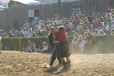 Knight Photograph - Maryland Renaissance Festival - Jousting And Sword Fighting - 121296 by DC Photographer