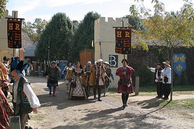 Aged Photograph - Maryland Renaissance Festival - Kings Entrance - 121213 by DC Photographer