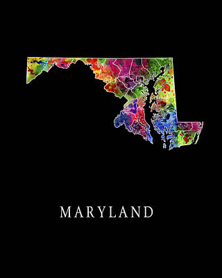 Elkton Digital Art - Maryland State by Daniel Hagerman