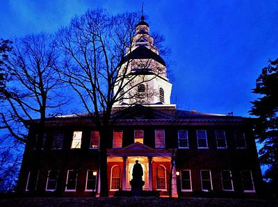 1772 Photograph - Maryland State House by Benjamin Yeager