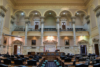 Photograph - Maryland State House House Of Delegates Chamber by Mark Dodd