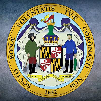 Maryland State Seal Art Print by Movie Poster Prints