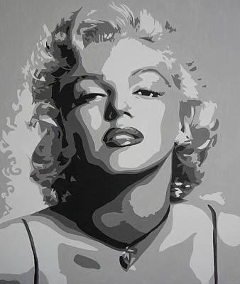 Tribute To Marilyn Monroe Art Print by Bitten Kari