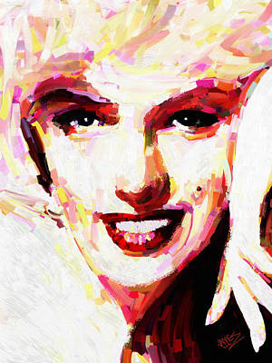 Portrait Painting - Marylin Monroe 2 by James Shepherd