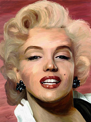Marylin Monroe Art Print by James Shepherd