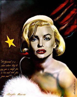 Marylin Monroe Original by Mireille  Poulin