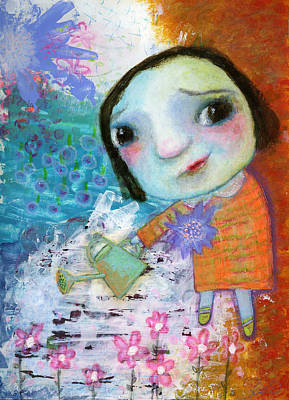 Mary's Quite Contrary Art Print by Shirley Dawson