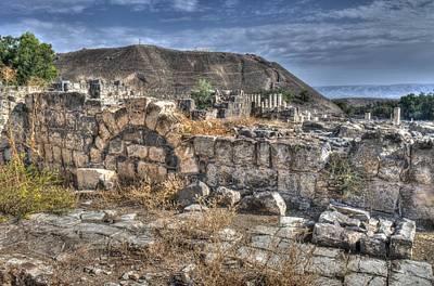 Photograph - Masada Ruins by Don Wolf