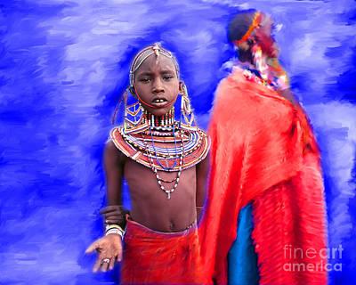 Photograph - Masai by Edmund Nagele