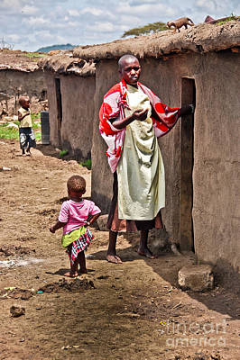 Photograph - Masai Mother And Child by Charuhas Images
