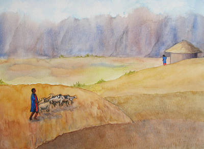Painting - Masai Village by Patricia Beebe