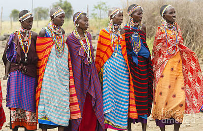 Photograph - Masai Women Kenya by Bill Bachmann