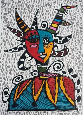Caribe Painting - Mascara Vejigante by Sandra Perez-Ramos