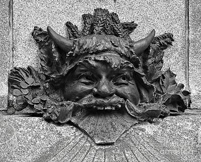 Photograph - Mascaron by Ethna Gillespie