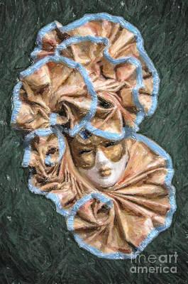 Digital Art - Maschera Di Carnevale by Liz Leyden