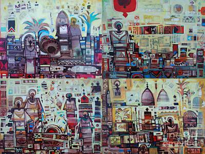 Maseed Maseed 3 Art Print by Mohamed Fadul