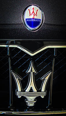 Photograph - Maserati Badge by E Karl Braun