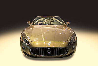 Photograph - Maserati Gold Colour by Radoslav Nedelchev