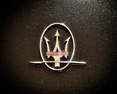 Photograph - Maserati Logo by Ronda Broatch