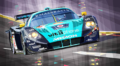 Maserati Digital Art - Maserati Mc12 Gt1 by Yuriy Shevchuk