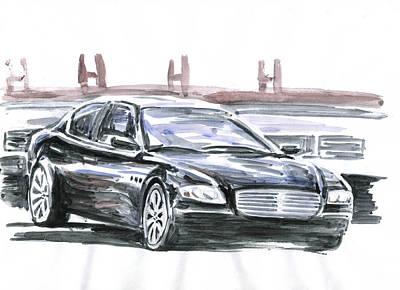 Maserati Quattroporte Art Print by Ildus Galimzyanov