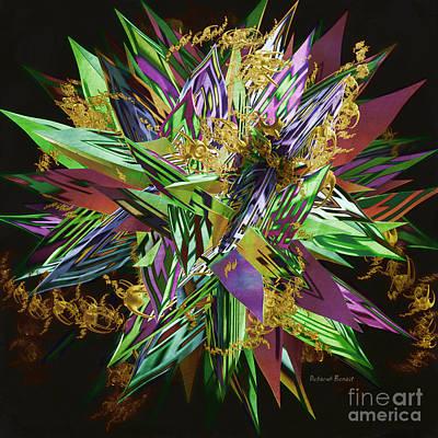 Incendia Digital Art - Mash 3 by Deborah Benoit