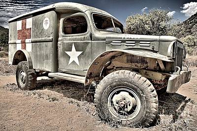 Photograph - Mash Medic Truck Up Close by Adam Jewell