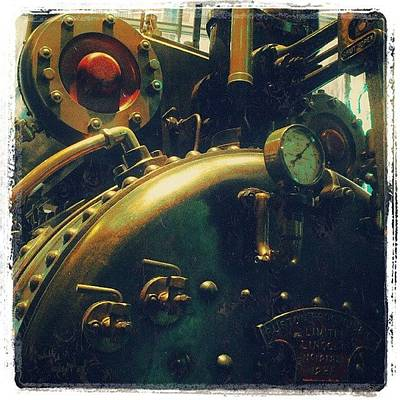 Steampunk Photograph - #mashines ... #steamengine #engine by Alexandra Cook