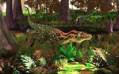 Paleobotany Photograph - Masiakasaurus Dinosaurs by Walter Myers