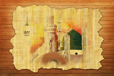 Darud Painting - Masjid E Nabwi 02 by Catf