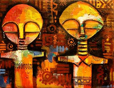 Painting - Mask 5 by Appiah Ntiaw