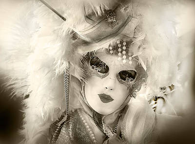 Photograph - Mask And Feathers by Denise Dube
