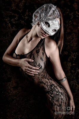 Mask And Lace Art Print by Jt PhotoDesign
