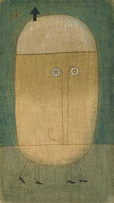 Paul Klee Painting - Mask Of Fear by Celestial Images