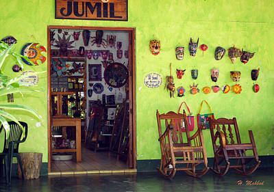 mask shop in Mexico Art Print
