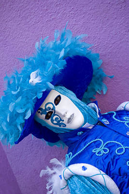 Photograph - Mask Women In Blue by Indiana Zuckerman