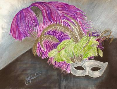 Mardi Gras Drawing - Mask by Yolanda Raker