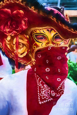 Photograph - Masked Bull Runner-nola by Kathleen K Parker