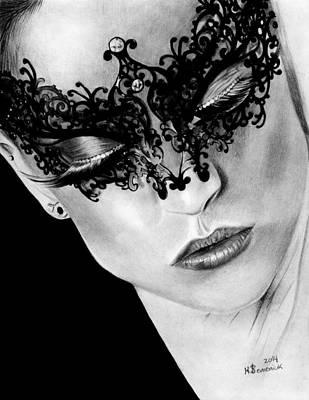 Masked Dance Art Print by Kayleigh Semeniuk