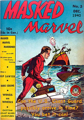 Masked Marvel And The Coast Guard Art Print by Tom DiFrancesca