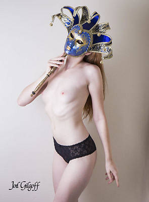 Photograph - Masked Model by Joel Gilgoff