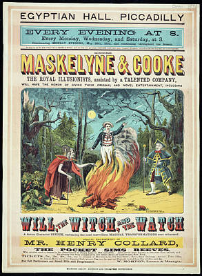 Conjurer Photograph - Maskelyne And Cooke's Entertainment by British Library
