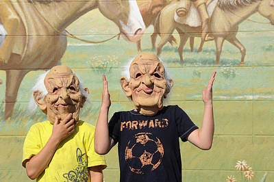 Photograph - Masks And Murals In Big Timber Montana by Mary Lee Dereske