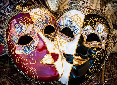 Murano Glass Photograph - Masks by Bob Rowlands