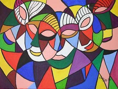 Painting - Masks by May Ling Yong
